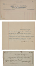 Miscellaneous:Ephemera, Tombstone, Arizona: Three Documents Relating to the First JewishMayor.... (Total: 3 )