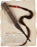 Edged Weapons:Knives, Rare Sioux Scalping Knife and Scalplock....