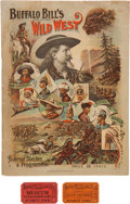 "Entertainment Collectibles:Vaudeville, William F. ""Buffalo Bill"" Cody: 1894 Wild West Show Program....(Total: 4 Items)"