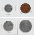 Advertising:Small Novelties, Tombstone, Arizona: Coins Commemorating First HelldoradoCelebration.... (Total: 4 Items)