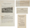 Miscellaneous:Ephemera, Tombstone, Arizona: Documents Relating to The TombstoneConsolidated Mines Company.... (Total: 3 Items)