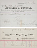 Miscellaneous:Ephemera, Tombstone, Arizona: Billheads of Two Tombstone Businesses....(Total: 2 )