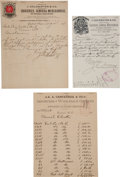 Miscellaneous:Ephemera, Fairbanks, Arizona: Three Billheads from the 1880s.... (Total: 3Items)