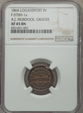 Civil War Merchants, 1864 A.J. Murdock, Dry Goods, Logansport, IN, Fuld-570H-1a, R.6,XF45 NGC....