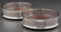 Silver Holloware, British:Holloware, A Pair of English Silver Bottle Coasters, London, England, circa1991. Marks: (lion passant), (leopard's head), R, DRM ...(Total: 2 Items)