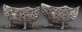 Silver Holloware, British:Holloware, A Pair of Henry Matthews Silver Salts, Birmingham, England, circa1895. Marks: (lion passant), (anchor), v, B, HM. 1-3/4...(Total: 2 Items)