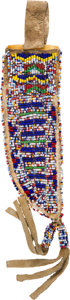 American Indian Art:Beadwork and Quillwork, Sioux Beaded Knife Sheath....