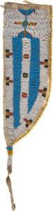 American Indian Art:Beadwork and Quillwork, Beaded Knife Sheath....