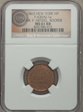 Civil War Merchants, 1863 Chr. Hetzel, New York, NY, Fuld 630AJ-1a, R.3, MS61 Red andBrown NGC....