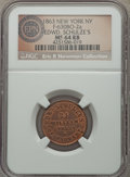 Civil War Merchants, 1863 Edward Schulze's Restaurant, New York, NY, Fuld 630BO-2a, R.1,MS64 Red and Brown NGC. ...