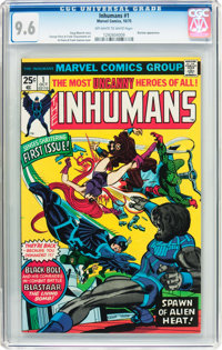 The Inhumans #1 (Marvel, 1975) CGC NM+ 9.6 Off-white to white pages