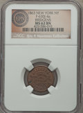 Civil War Merchants, 1863 Bridgens, New York, NY, Fuld 630J-4a, R.7, MS62 Brown NGC. ...