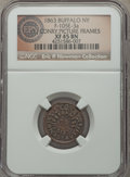 Civil War Merchants, 1863 T.J. Conry, Buffalo, NY, Fuld 105E-3a, R.5, XF45 NGC. ...