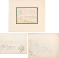 Art:Illustration Art - Mainstream, [Harper's] Original Civil War Sketches: Encounters with theEnemy.... (Total: 3 Items)