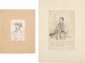 Art:Illustration Art - Mainstream, [Harper's] Original Civil War Sketches: Rebel Raider and UnionDeserter.... (Total: 2 Items)