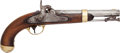 Handguns:Muzzle loading, U.S. I.N. Johnson Percussion Pistol....
