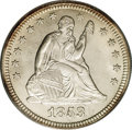 Seated Quarters: , 1853 25C No Arrows MS66 PCGS. Although the PCGS population dataactually indicates that one finer example has been certifie...
