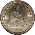 Seated Quarters: , 1878-CC 25C MS65 NGC. Final year of quarter production at theCarson City facility and, while occasionally located in lesse...