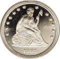 Proof Seated Quarters: , 1888 25C PR66 Deep Cameo PCGS. Untoned with glassy, well contrastedmirrors of uncompromising quality. As with all quarter ...