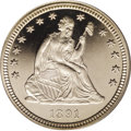 Proof Seated Quarters: , 1891 25C PR65 Deep Cameo PCGS. A premium quality and outstandinglyattractive, untoned Gem Seated Liberty quarter with star...