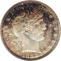 Barber Quarters: , 1892 25C MS68 PCGS. Type One Reverse, as identifiable by theposition of the eagle's left (facing) wingtip relative to the ...