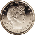 Proof Barber Quarters: , 1898 25C PR66 Deep Cameo NGC. Untoned with the most profound field-to-device contrast imaginable. Only a few trivial distur...