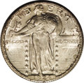 Standing Liberty Quarters: , 1924-D 25C MS66 Full Head PCGS. Satiny luster throughout and sharp,including the desired leaves on Liberty's head. General...