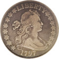 Early Half Dollars: , 1797 50C Fine 15 PCGS. O-101a, High R.4. The Draped Bust SmallEagle half dollar, with a miniscule mintage of 3,918 pieces ...