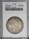 Early Half Dollars: , 1807 50C Draped Bust XF45 ANACS. O-110a, R.3. Die crumbling betweenthe outer points of obverse star seven is diagnostic fo...