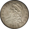 Bust Half Dollars: , 1815/2 50C XF40 PCGS. O-101, R.2. Steel gray with a hint of lightgold near the stars. Traces of luster in the protected a...