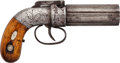 Handguns:Muzzle loading, Engraved Allen & Thurber Pepperbox Percussion Revolver....