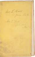 Miscellaneous:Ephemera, [Peninsula Campaign]. Union Soldier's Diary of George Hall, 4thMaine Volunteer Infantry....