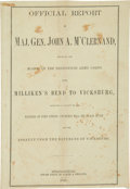 Books:Americana & American History, Civil War Imprint: Official Report of Maj. Gen. John A.M'Clernand Detailing the March of the Thirteenth Army Corpsfrom...