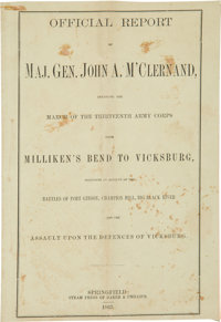 Civil War Imprint: Official Report of Maj. Gen. John A. M'Clernand Detailing the March of the Thirteenth Army C
