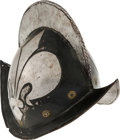 Militaria:Armor, Presumed German Civil Guard Morion, Circa 17th Century....