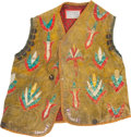 American Indian Art:Beadwork and Quillwork, Quilled Hide Boy's Vest....
