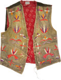American Indian Art:Beadwork and Quillwork, Quilled Hide Men's Vest....