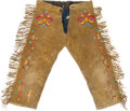 American Indian Art:Beadwork and Quillwork, Quilled Hide Boy's Trousers....