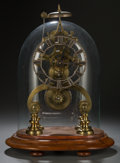 Clocks & Mechanical:Clocks, A Cased English Eight-Day Cathedral Skeleton Clock on Base, late 19th century. 13 inches high (33.0 cm) (including stand and... (Total: 4 Items)