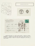Miscellaneous:Ephemera, Charleston, Arizona: Rare Postal Cover with Letter.... (Total: 2 )