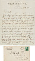 Miscellaneous:Ephemera, Tombstone, Arizona: Tombstone Banker Reports to His Mother onRecent Fire.... (Total: 2 )