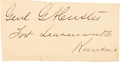 Autographs:Military Figures, George Armstrong Custer: A Fine Large, Bold Clipped Signature....
