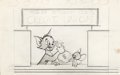 Animation Art:Production Drawing, Tom and Jerry Preliminary In-House Publication Art (MGM, c. 1950s)....