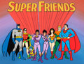 Animation Art:Production Cel, The All New Super Friends Hour Production Title Cel (Hanna-Barbera, 1977)....