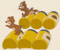 Animation Art:Production Cel, All in a Nutshell Chip 'n' Dale Production/Color Model CelSetup (Walt Disney, 1949).... (Total: 3 Original Art)