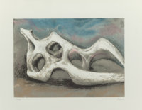 Henry Spencer Moore (British, 1898-1986) Reclining Figure Bone, 1982 Lithograph in colors on Rives B