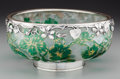 Art Glass:Daum, A Daum Partial Gilt Overlay Glass Morning Glory Bowl withFrench Silver Mounts, Nancy, France, circa 1900. Marks...