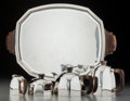Silver Holloware, French:Holloware, A Five-Piece Lagriffoul & Laval French Art Deco Silver andRosewood Tea and Coffee Service, Paris, France, circa 1920-1940.... (Total: 8 Items)