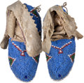 American Indian Art:Beadwork and Quillwork, Pair Beaded Ceremonial Child's Moccasins.. ... (Total: 2 Items)