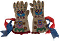American Indian Art:Beadwork and Quillwork, Rare Pair of Child's Beaded Hide Gloves.... (Total: 2 Items)